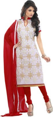 JK apparels Chanderi Self Design Semi-stitched Salwar Suit Dupatta Material