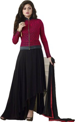 Jabudi Creation Georgette Embroidered Semi-stitched Salwar Suit Dupatta Material