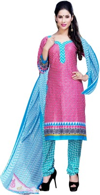 Stella Creation Chanderi Embroidered Semi-stitched Salwar Suit Dupatta Material
