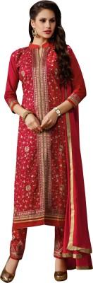 Varanga Cotton Self Design Semi-stitched Salwar Suit Dupatta Material