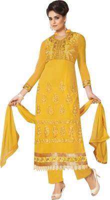 Vibes Georgette Self Design Salwar Suit Dupatta Material