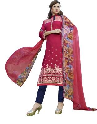 BanoRani Cotton Embroidered Salwar Suit Dupatta Material