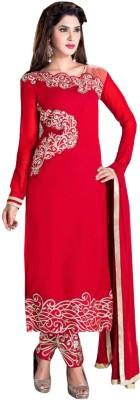 Reveka Fashion Georgette Self Design Dress/Top Material