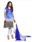 Ligalz Cotton Linen Blend Printed Semi-s...