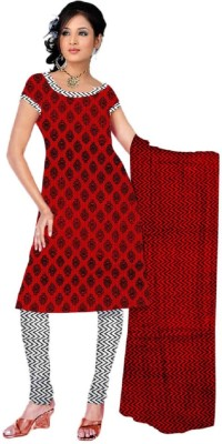 RockChin Fashions Cotton Geometric Print Salwar Suit Dupatta Material