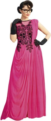 vandvshop Georgette Embroidered Gown & Waistcoat Material
