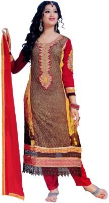 Vamakshi Georgette, Chiffon Printed Semi-stitched Salwar Suit Dupatta Material