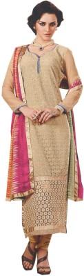 Dupatta Bazaar Georgette Embroidered Semi-stitched Salwar Suit Dupatta Material