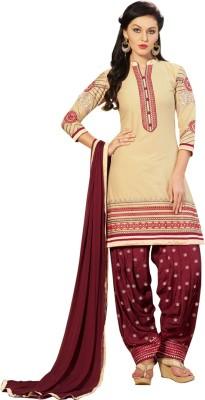 Yati Cotton Embroidered Salwar Suit Dupatta Material