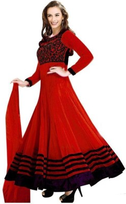 StyleWorld Georgette Embroidered Semi-stitched Salwar Suit Dupatta Material