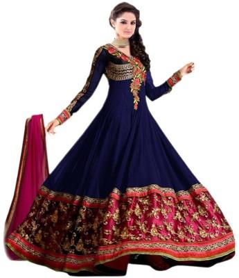 Sambandh Saree Georgette Embroidered Semi-stitched Salwar Suit Dupatta Material