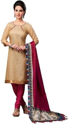 Saumya Designer Cotton Linen Blend Solid Salwar Suit Dupatta Material
