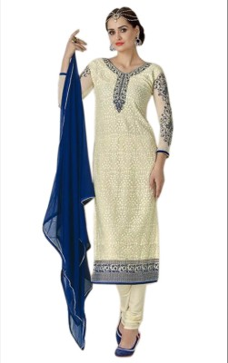 Alkhaleej Georgette Embroidered Salwar Suit Dupatta Material