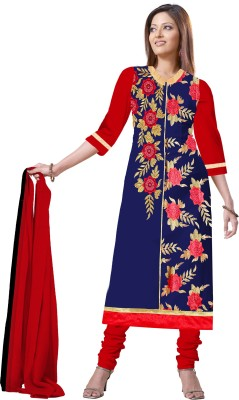 Gopal Retail Chanderi Printed Semi-stitched Salwar Suit Dupatta Material