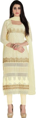 Whatshop Cotton Embroidered Salwar Suit Dupatta Material