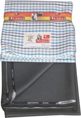Kundan Polyester, Viscose Striped, Checkered Shirt & Trouser Fabric