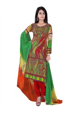 LongFashion Cotton Printed Semi-stitched Salwar Suit Dupatta Material