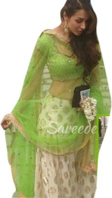 LongFashion Jacquard Embroidered Semi-stitched Salwar Suit Dupatta Material