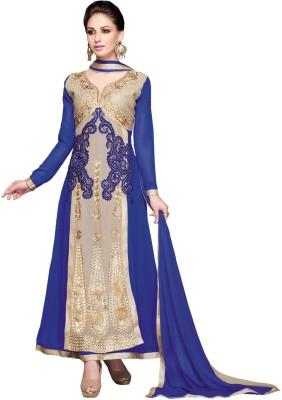 Inddus Georgette Embroidered Salwar Suit Dupatta Material