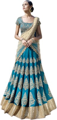 Ladyview Silk Embroidered Lehenga Choli Material