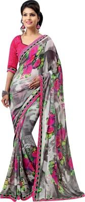 leepsprints Printed Bollywood Georgette Sari