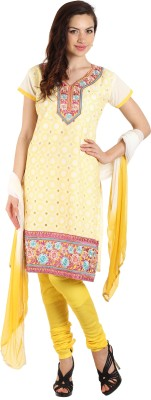 Parchayee Cotton Polyester Blend Solid Salwar Suit Dupatta Material