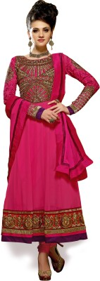 Vaani Georgette Self Design Semi-stitched Salwar Suit Dupatta Material at flipkart