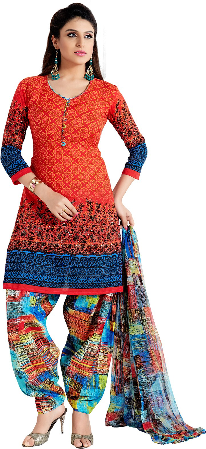 Flipkart - Dress Materials Minimum 70% Off