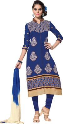 Style Mania Cotton Embroidered Dress/Top Material