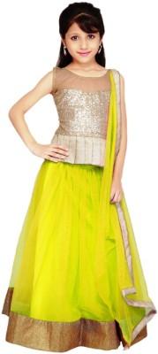 FashionsBazaar Net Self Design Semi-stitched Lehenga Choli Material