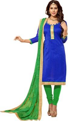 Saara Cotton Silk Blend Self Design Salwar Suit Dupatta Material