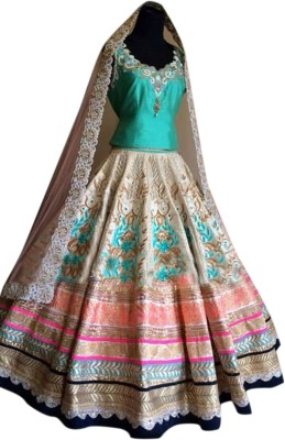 Ladyview Georgette Embroidered Lehenga Choli Material