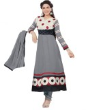 V-Karan Synthetic Georgette Embroidered ...