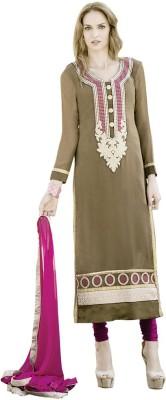 Vastrani Georgette Floral Print Semi-stitched Salwar Suit Dupatta Material
