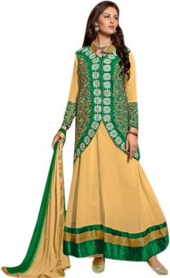 Viva N Diva Georgette, Velvet Embroidered Salwar Suit Dupatta Material