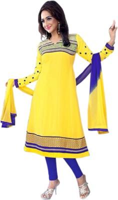 V-Karan Chiffon Embroidered Salwar Suit Dupatta Material
