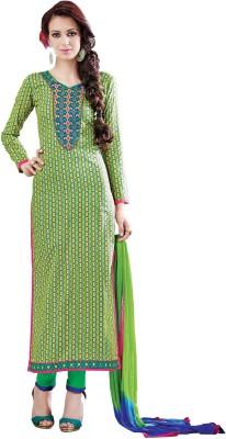 JK apparels Cotton Self Design Semi-stitched Salwar Suit Dupatta Material