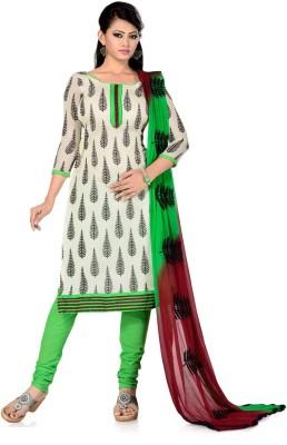 Fabdeal Cotton Embroidered Salwar Suit Dupatta Material