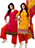 Yati Cotton Embroidered Salwar Suit Dupa...