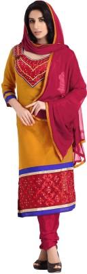 Fabdeal Silk Solid Salwar Suit Dupatta Material