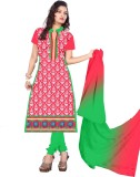 Dk Fab Cotton Embroidered Salwar Suit Du...