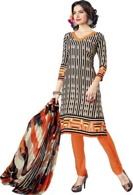 Shopeezo Crepe Striped Salwar Suit Dupatta Material