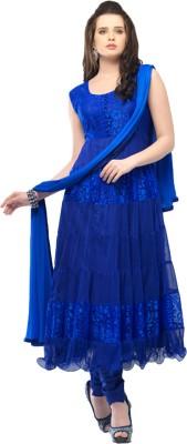 Helix Enterprise Net Self Design Semi-stitched Salwar Suit Dupatta Material
