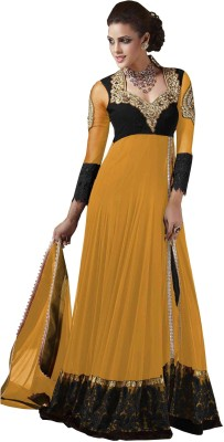 Manvaa Net Embroidered Semi-stitched Salwar Suit Dupatta Material
