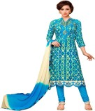 DnVeens Cotton Printed, Embroidered Salw...