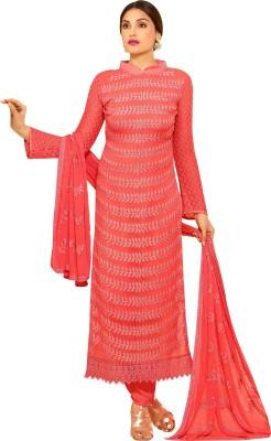 Hitansh Fashion Chiffon Embroidered Salwar Suit Dupatta Material