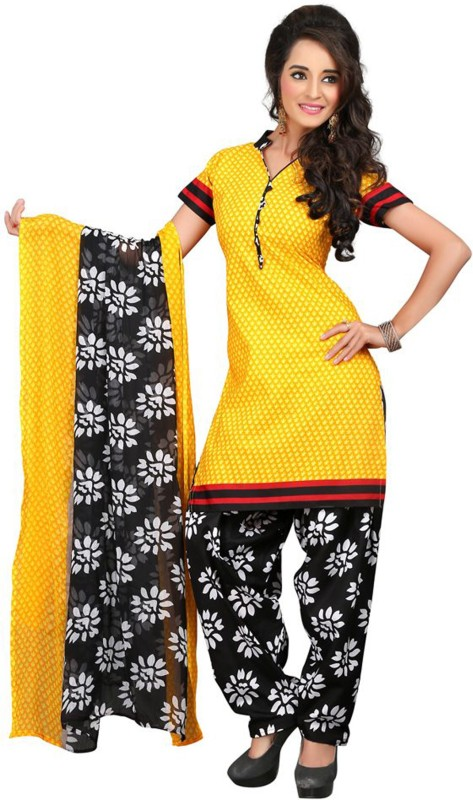 Shri-Ram Cotton Self Design Salwar Suit Dupatta Material(Un-stitched)