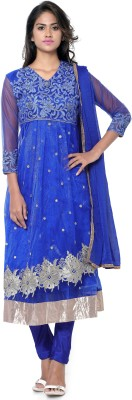 JENNYFASTER Net Embroidered Semi-stitched Salwar Suit Dupatta Material