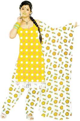 Kukee Cotton Polka Print Salwar Suit Dupatta Material