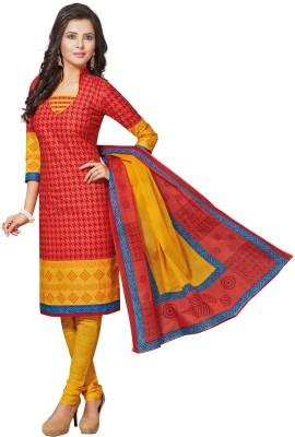 Salwar Studio Cotton Self Design Salwar Suit Dupatta Material